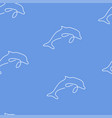 dolphin pattern seamless color vector image vector image