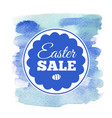 easter sale card vector image vector image