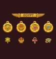 egyptian talismans with scarab eye flower vector image vector image