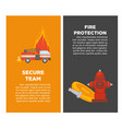 fire protection or firefighting secure team vector image vector image