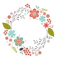 Floral round composition vector image
