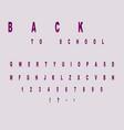 font effect of violet smoke on black letters vector image