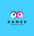 game production logo vector image
