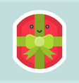 gift box icon easter and spring flat sticker vector image vector image