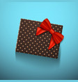 gift box with red ribbon realistic present in vector image vector image