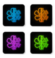glowing neon air conditioner icon isolated on vector image vector image