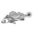 goby fish for coloring book vector image vector image