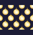 gold christmas balls seamless pattern bokeh vector image