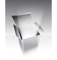 gray box with light vector image
