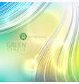 green circle abstract background vector image vector image