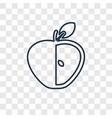 half apple concept linear icon isolated on vector image