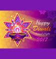 happy diwali lights festival vector image
