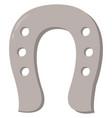 horseshoe on white background vector image