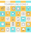 Inline Tourism Icons Collection vector image vector image