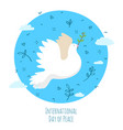 international day peace the earth with dove vector image