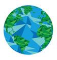 isolated geometric globe vector image
