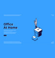 landing page home office for freelance vector image vector image