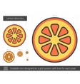 Lemon slice line icon vector image vector image