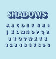 letters long shadows alphabet with letters and vector image vector image