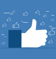 like it thumbs up hands concept vector image