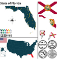 Map of Florida vector image vector image