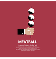 Meatball In Skewer vector image