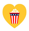 popcorn icon heart shape i love movie cinema icon vector image