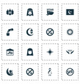 religion icons set with qiblah worship no vector image