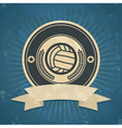 Retro Volleyball Emblem vector image vector image