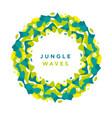 round jungle modern design element vector image vector image
