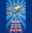 safari concept banner comics isometric style vector image