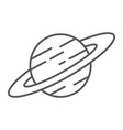 saturn thin line icon astronomy and space planet vector image vector image