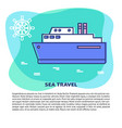 sea travel concept banner template with place for vector image