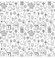 seamless pattern with easter doodle sketches on vector image vector image