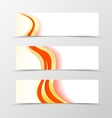 set banner smooth design vector image vector image