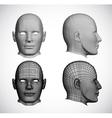Set female heads vector image