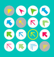 set of 16 arrow icons with north-west direction vector image vector image