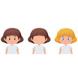 set of girl with different hair colour vector image vector image