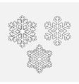 set snowflakes vector image vector image