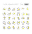 simple icons world environment day vector image vector image
