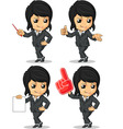 Smiling Businesswoman Mascot in Many Poses vector image vector image