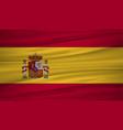 spain flag flag of spain blowig in the wind eps vector image