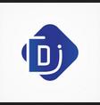 square symbol letter d design minimalist vector image vector image
