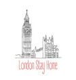 stay home poster for london vector image vector image