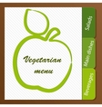 Template of a vegetarian menu vector image