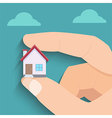 Tiny House in Hand vector image vector image