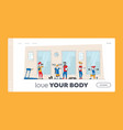 training exercises with professional trainer vector image vector image