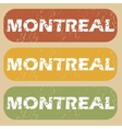Vintage Montreal stamp set vector image vector image