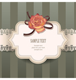 vintage rose lace vector image