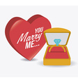 Wedding card design vector image vector image